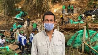 Operativo de desalojo en Bucaramanga