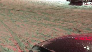 Winter drift on cars in Russia
