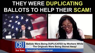 They Were Duplicating Ballots To Help Their Scam!