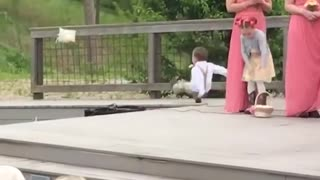 Funny Kids add some comedy to a wedding! - Ring Bearer Fails
