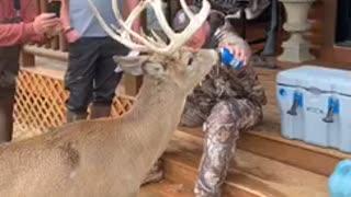 Deer Wants What Hunter is Drinking