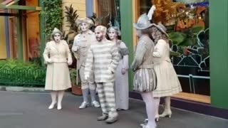 Disneyland Ghost characters sing spooky Halloween song.