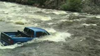 Truck Stuck in a Stream