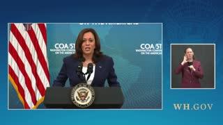 Kamala Harris Addresses Migrant Surge From Southern Border