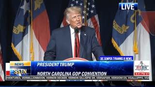 President Trump Rips The Globalist Puppet Biden Regime At NC GOP BONV