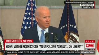 Biden labels GOP voting laws greatest threat to American democracy since Civil War