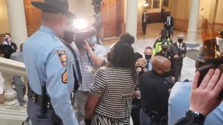 Leftists STORM Georgia Capitol In Response to ID Required for Absentee Ballots