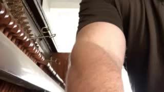 Jim Turner Tuning a piano