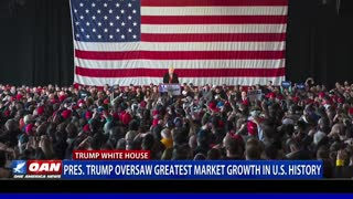 Report: President Trump oversaw greatest market growth in U.S. history