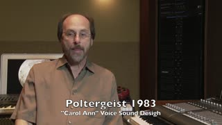 Alan Howarth's story about working with Steven Spielberg on Poltergeist