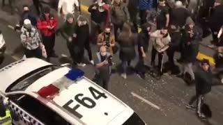 Police Spray Lockdown Protesters in Victoria, Australia Aug. 5th, 2021