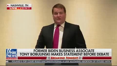 Hunter Biden's Former Business Partner Drops BOMBSHELL Right Before Debate