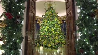 """""""America the Beautiful"""": First Lady Melania Trump premieres White House Christmas decorations"""