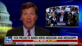 Tucker Carlson says Bernie losing because he's weak