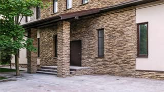 Best Decoration façade of A private House with artificial stone.
