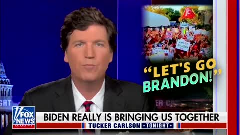 """Tucker's take on FJB and """"Let's Go Brandon"""" is hilarious."""