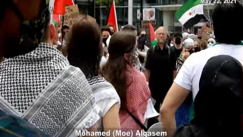 "Moe Alqasem led Toronto protest in chanting: ""Viva, Viva Intifada"""