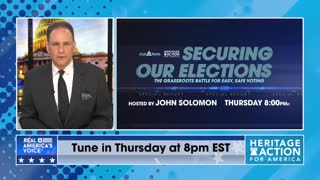 """ Securing Our Elections "" Televised Event Hosted By John Solomon: Tonight, April 15th @ 8:00 pm EST"