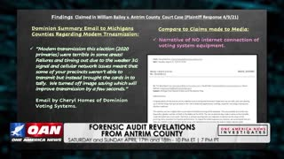 One America News Investigates: Forensic audit revelations from Antrim County, Mich.