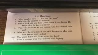 Bible Quiz 2 ⭐️⭐️