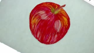 Painting a Red Apple