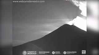 Moment Huge Burning Meteorite Fills Mexican Night Sky