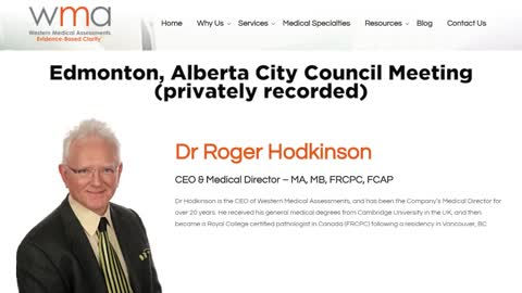 Dr Roger Hodkinson testifies on COVID