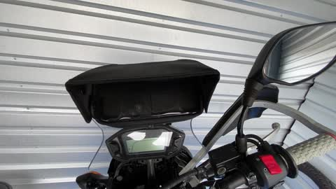 My $20 Amazon motorcycle phone holder with shade hood review for my 2018 CRF 250L Rally