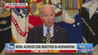 Biden Gets Tongue-Tied While Announcing Withdrawal from Afghanistan