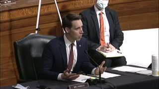 Big Tech Hearing - Senator Hawley questions Facebook CEO on Tasks