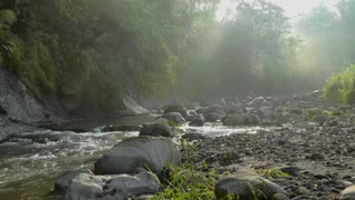 Amazing view of flowing river