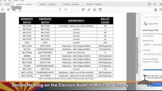 Arizona Senate Audit Team Reveals -- DOUBLE COUNTED BALLOTS