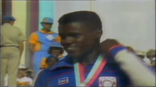 Carl Lewis winning Four Gold Medals at the Olympic Games 1984