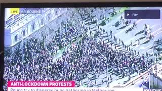 Melbourne, Australia: Lockdown Protesters Break Police Line Aug. 21, 2021