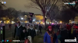 At midnight thousands have gathered in Washington D.C. to show their support for Donald Trump.