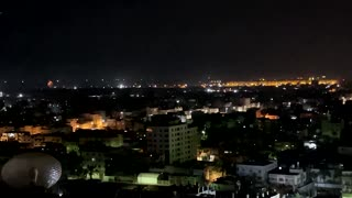 Israel, Hamas exchange fire for third night