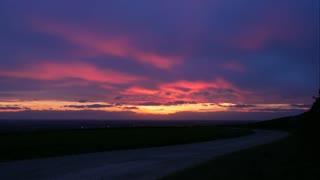 Spectacular Timelapse sunset Vale of York UK Panasonic fz 2000