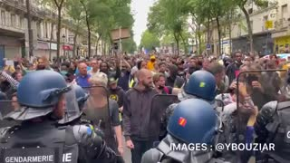 LIBERTÉ IN PARIS AS THEY PROTEST AGAINST MANDATORY VACCINATIONS OF HEALTH CARE WORKERS VACCINATIONS
