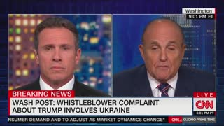 Rudy giuliani and chris cuomo battle over Biden, Trump and Urkaine