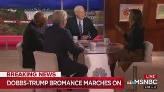 Chris Matthews make questionable joke about President Trump and Lou Dobbs