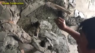Excellent Worker - Great Art Create By Sand And Cement (part 2)