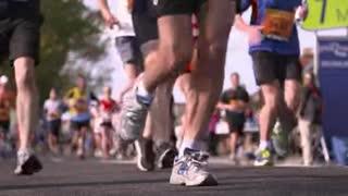 Marathon Runners Slow Motion Slow motion clip of marathon runners.