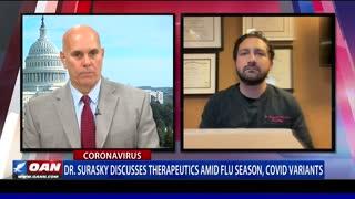 Dr. Surasky discusses therapeutics amid flu season, COVID variants