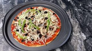 Home Made Veggie Pizza (Jan 2021)