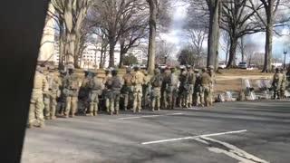 Military turn their backs on Joe Biden's Motorcade.1-20-21