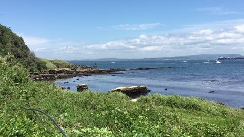 観音崎の海辺