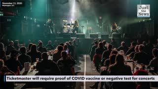 Ticketmaster will require proof of COVID vaccine or negative test for customers to attend concerts