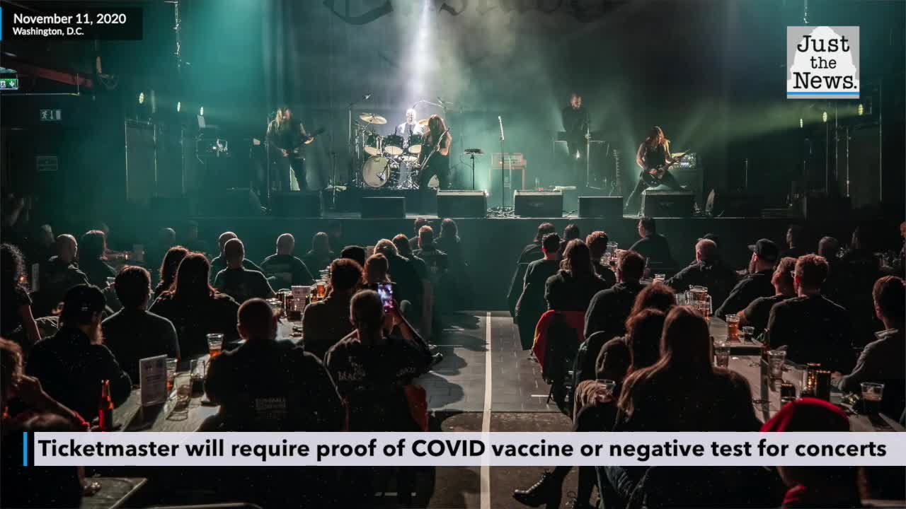 Ticketmaster will require proof of COVID vaccine or ...