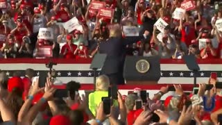 Trump ends his rally by dancing to YMCA