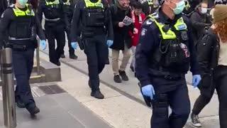 Protest in Melbourne Australia 3 July 2021